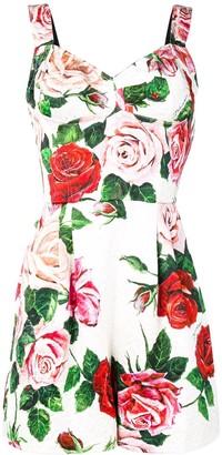 Dolce & Gabbana Rose Print Jumpsuit