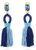 Oscar de la Renta Short tassel-drop clip-on earrings