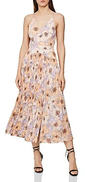 Reiss Corinne Pleated Floral Dress