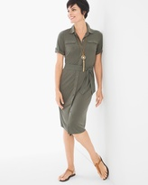 Chico's Solid Utility Short Dress