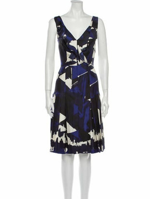 Oscar de la Renta 2012 Knee-Length Dress Blue