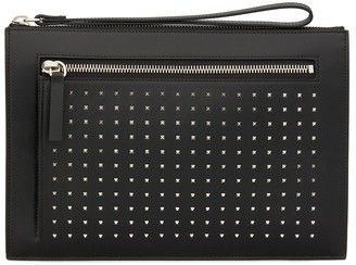 Giuseppe Zanotti Zipped Stud-Embellished Clutch Bag