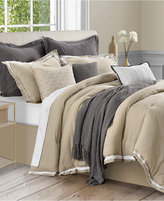 Sunham Stafford 10-Pc. Queen Cotton and Linen Comforter Set,
