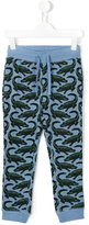 Stella McCartney crocodile print sweatpants - kids - Cotton - 10 yrs