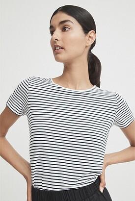 Witchery Stripe Shirt Tail Tee