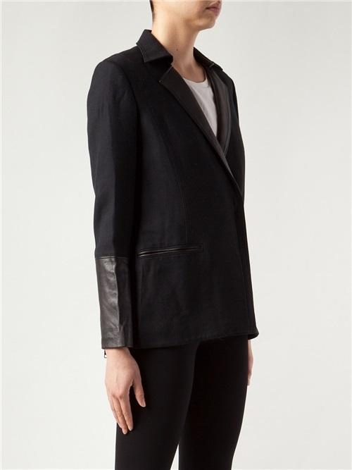Helmut Lang Leather Collar Blazer