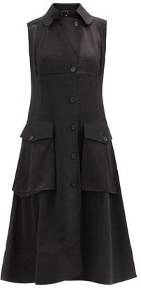 J.W.Anderson Hero Sleeveless Canvas Cargo Dress - Black