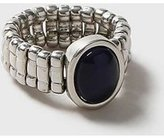 Dorothy Perkins Womens Silver Cat Eye Stone Ring- Blue