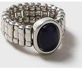 Dorothy Perkins Womens Silver Cat Eye Stone Ring- Blue