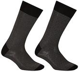 John Lewis Birdseye Egyptian Cotton Socks, Pack of 2