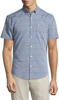 Original Penguin Striped Short-Sleeve Sport Shirt, Dress Blues