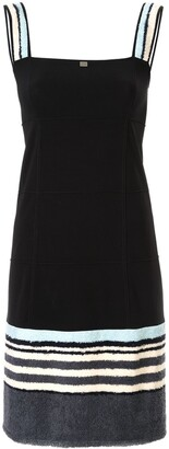 Chanel Pre-Owned textured panels slim-fit dress