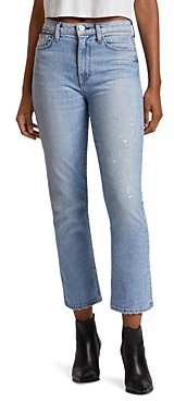 Hudson Holly High-Rise Crop Flare Jeans in Colossal