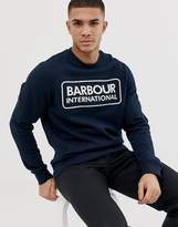 Barbour International large logo sweat in navy