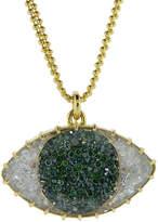 Renee Lewis Green and White Diamond Third Eye Shake Necklace
