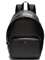 TOD'S Logo-debossed leather backpack
