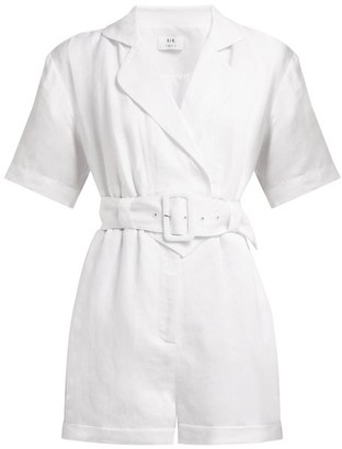 Sir - Dalila Linen-blend Playsuit - Womens - White