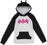 Jerry Leigh Gray & Black 'Batgirl' Caped Hoodie - Girls