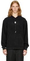 Alexander Wang Black Fleece classic Black Bolo Tie Hoodie