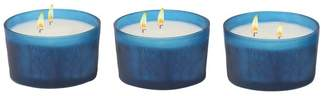 Brimfield & May Modern Cylindrical Glass Votive Candle Holders With Candle, Set of 3