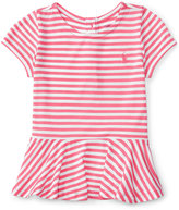 Ralph Lauren Striped Peplum T-Shirt, Baby Girls (0-24 months)