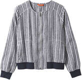 Joe Fresh Women's Stripe Bomber Jacket, Navy (Size M)
