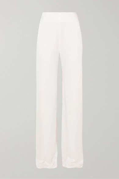 Jenny Packham Selina Satin Wide-leg Pants - Ivory