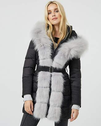 Le Château Hooded Faux Fur Puffer Coat