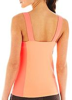 JCPenney XersionTM Ruched-Front Colorblock Tank Top