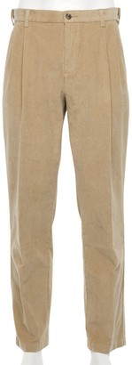 Croft & Barrow Men's Classic-Fit Corduroy Pleated Pants