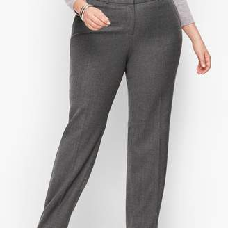 Talbots Luxe Flannel Windsor Pants - Curvy Fit