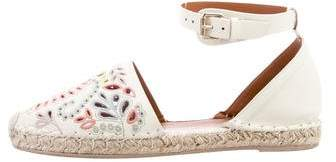 Valentino Embroidered Leather Sandals