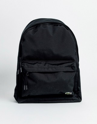 Lacoste croc logo backpack in black