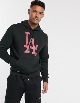 New Era MLB Los Angeles Dodgers hoodie in black