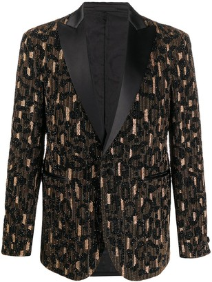 Versace Bead Embellished Blazer