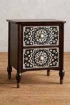 Anthropologie Tapestry Inlay Nightstand