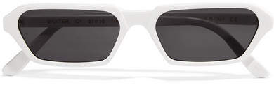 Illesteva Baxter Square-frame Acetate Sunglasses - White