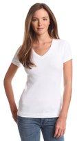 Three Dots Women's V-Neck T-Shirt