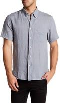 Billy Reid Tuscumbia Standard Fit Short Sleeve Linen Shirt