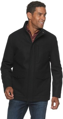 Ike Behar Men's Hip-Length Wool Modified Field Jacket