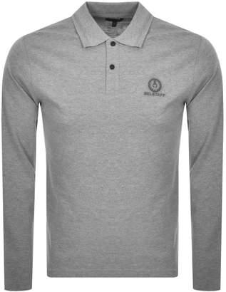 Belstaff Long Sleeved Polo T Shirt Grey