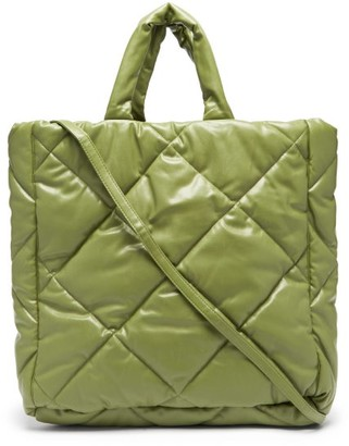 Stand Studio Assante Quilted Faux-leather Tote Bag - Khaki