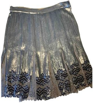 Valentino Blue Glitter Skirt for Women Vintage