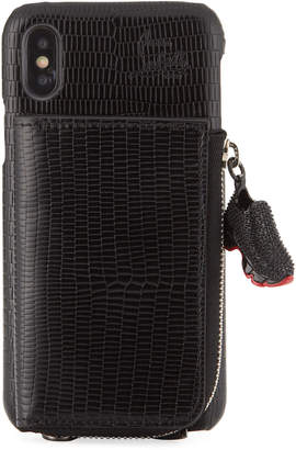 Christian Louboutin Men's iPhone X-XS Crossbody Phone Case with Signature Wallet