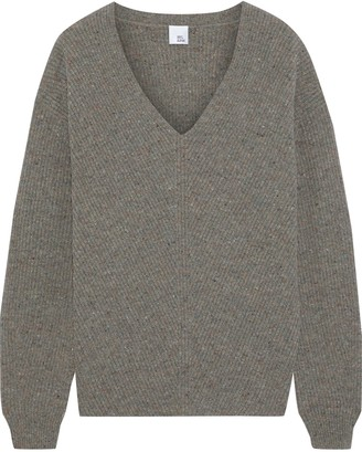 Iris & Ink Krista Ribbed Donegal Wool Sweater