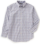 Roundtree & Yorke Superior Touch Long-Sleeve Checked Sportshirt