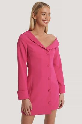 Basma & Merna X NA-KD Slip Shoulders Mini Dress
