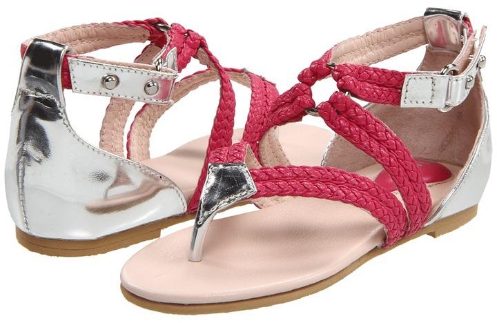Bloch Natalia (Toddler/Little Kid/Big Kid) (Fandango Pink/Silver) - Footwear