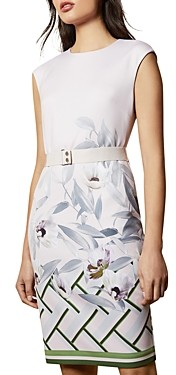 Ted Baker Haliey Everglade Floral-Print Bodycon Dress