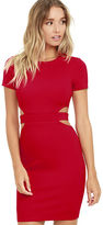 LuLu*s Feeling the Heat Red Cutout Bodycon Dress